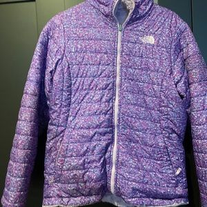 One day sale today North face purple coat kids